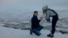 """""""Will you marry me?"""" - When a photo shoot turns in to a proposal in Jokulsarlon, Iceland."""