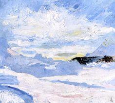 Winter landscape near Maloja Giovanni Giacometti - 1925