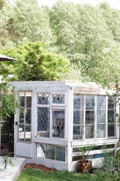 Greenhouse from old windows. Hothouse, Small Greenhouse, Old Windows, Glass House, Beautiful Gardens, Outdoor Living, Living Spaces, Home Improvement, Shed