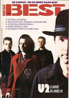 U2 - BEST Magazine N° 258 [France] (1990) #bono #theedge #larrymullen #adamclayton #u2 #music #rock #bestmagazine