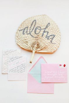A tropical pastel wedding inspiration board with lots of beach wedding details to adore. Beach Wedding Invitations, Wedding Stationary, Wedding Favors, Pink Invitations, Calligraphy Invitations, Calligraphy Envelope, Wedding Calligraphy, Invitation Suite, Wedding Cards