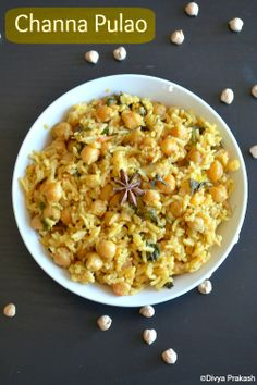 Divya's culinary journey: Channa Pulao | Chickpeas Pulao | Chole Pulav