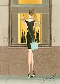 Tiffany Dreams illustration by SANDY M #illustration #art #illustrator #fashionillustration