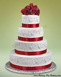 wedding cake red - Google Search
