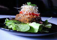Raw Veggie Burger Delight *nut free*  sweet potato, avocado base - Sounds interesting