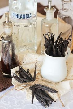 Pure Vanilla Extract – Home Made, of course!  This is the bottle I got because it was pretty