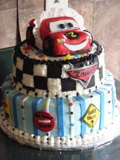 disney cars baby shower By Buttercream_warrior on CakeCentral.com