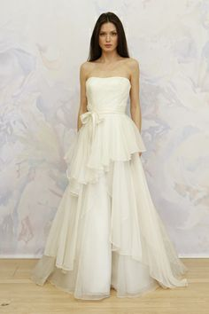 Such a whimsical skirt on this Antonio Gual for TULLE wedding gown. (Photo: Dan Lecca)