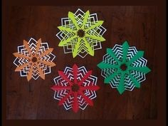 How to make paper snowflake.Christmas decoration.quick and easy
