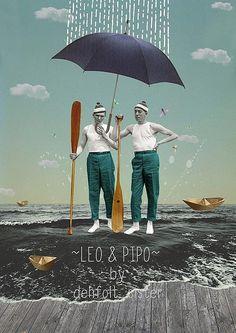 Leo & Pipo, by Dehfolt Sister by Leo & Pipo, via Flickr