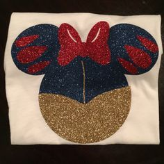 Fall in love with these beautiful Minnie head inspired princess shirts. We sell all sizes for little one to adult enthusiastic Disney lovers. 0-24
