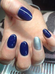 Navy blue/silver