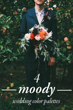 Set the mood for your wedding using these select shades! Image by Chelsea Diane Photography