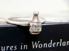 Drink Me Sterling Silver Stacking Ring by MelissaDawnJewelry, $32.00 (SO CUTE)