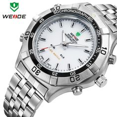 Cheap watch trendy, Buy Quality watch v6 directly from China watch shanghai Suppliers:                                 Wholesale 2pcs/lot stainless steel water resistant watches men 3 ATM WEIDE spo