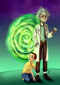 Rick y Morty by Kumito93