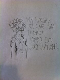 my drawing~john green's quote