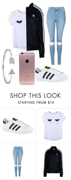 """""""School outfit"""" by lifesghghgaver ❤ liked on Polyvore featuring adidas, Chicnova Fashion, Topshop, adidas Originals and Bling Jewelry"""