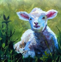 """Worthy is the Lamb"" - Original Fine Art for Sale - © Linda Marino"