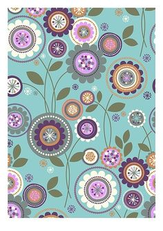 Desktop Wallpaper : Papel estampado by florine Surface Pattern Design, Pattern Art, Pattern Paper, Motif Floral, Floral Prints, Floral Flowers, Zentangle, Wallpaper Backgrounds, Iphone Wallpaper