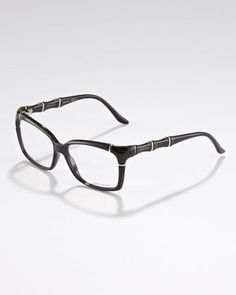 Gucci Bamboo Frame Fashion Glasses Black #earrings #statement #15things #fashion #trend #glasses #Gucci