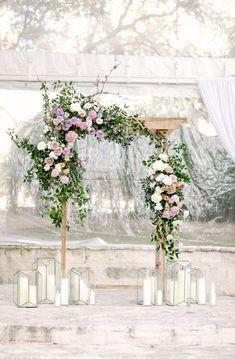 elegant wedding floral arch ideas