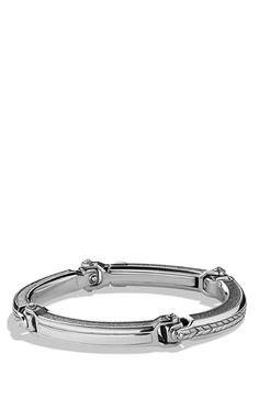 David Yurman 'Chevron' ID Bracelet available at #Nordstrom