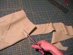 How to make a continuous length bias strip of fabric.