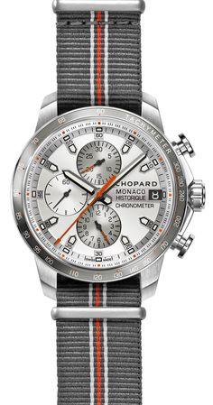 Chopard Grand Prix de Monaco Historique 2016, stainless steel/titanium with NATO strap