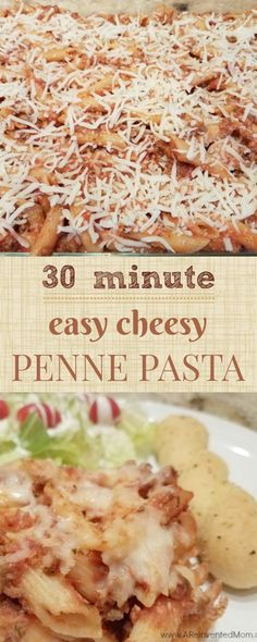 Easy, family friendly weeknight meal. Cheesy Penne Pasta Bake - A Reinvented Mom.