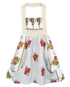 White Floral Crochet Front Sun Dress (Lalesso) / Fashion-Conscience.Com