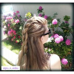 French Braid Faux Hawk Half Updo