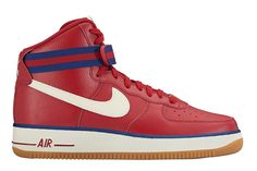 new arrival 3a7d5 0c877 Teaming striped straps, overt stitching on the Swoosh and gum soles, Nike  Sportswear has assembled a trio of Air Force 1 High releases. Leather  built, the