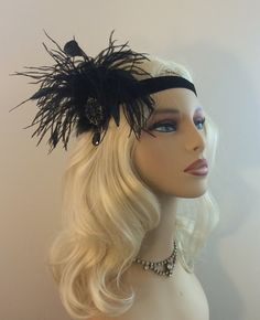 Great Gatsby Headband Speakeasy Art Deco Flapper Headband