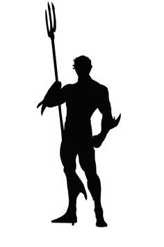 Aquaman from DC silhouette.Created using Adobe Illustrator Aquaman Silhouette Superhero Silhouette, Witch Silhouette, Silhouette Vector, Silhouette Cameo, Aquaman, Hero Crafts, Dc Comics, Disney Cards, Fantasy Art Men