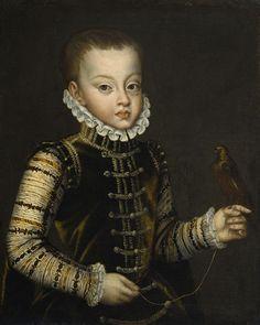 Príncipe Fernando de Austria, hijo de Felipe II y Ana de Austria. Falleció prematuramente.