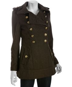 Miss Sixty army green wool blend military jacket | BLUEFLY up to 70% off designer brands