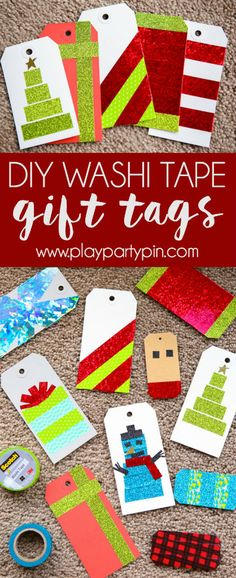 These Christmas gift tags are one of the easiest DIY crafts and they can go with any kind of wrapping paper! Even if you don't have the best gift ideas, DIY your gift tags to turn not so great Christmas ideas into awesome gifts! Or if you don't want to put them on gifts, wrap up a plate of cookies or cupcakes and add one of these tags. The Rudolph one is my favorite. #HolidayMagic #DontForgetTheTape #ad