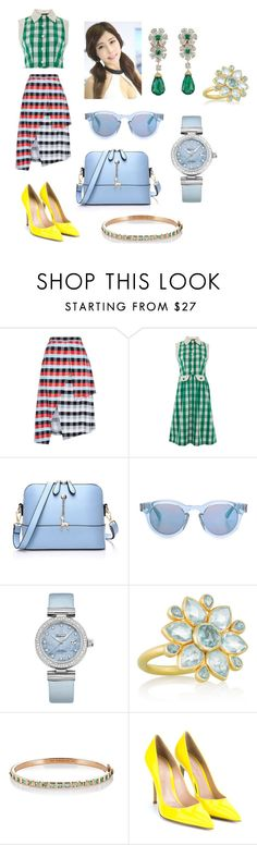 """""""187 ecology,feminine,casual style"""" by gangqin ❤ liked on Polyvore featuring Tanya Taylor, Lowie, Sunday Somewhere, Christies, OMEGA, MUNNU The Gem Palace, Nak Armstrong and Gianvito Rossi"""