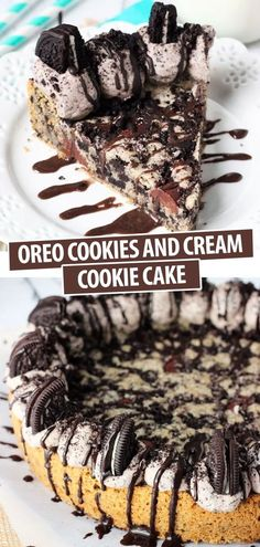 Oreo Dessert Recipes, Best Cookie Recipes, Delicious Desserts, Kinds Of Cookies, Cookies And Cream, Chocolate Chunk Cookies, Oreo Cookies, Basic Butter Cookies Recipe, Cookie Pie