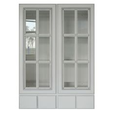 Unique Garden, Glass Kitchen Cabinets, Cabin Kitchens, Decorative Panels, Door Wall, Cabinet Design, Better Homes And Gardens, Double Doors, Glass Shelves