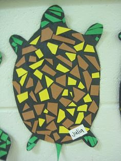 3rd Grade Mosaic Turtles—Modified for our texture project