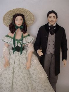 Are we too old to play with these Rhett Butler & Scarlett O'Hara dolls?