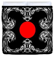 "Red circle King (104"" x 88"") Duvet Cover"