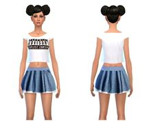 The Sims Resource: Sweet and fashionista outfit by Simsoertchen • Sims 4 Downloads