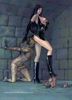Domination drawings female Extreme art and