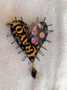 Tin+Jewelry+Wire+Stitched+Heart+1++Tin+for+the+Ten+by+TheMadCutter,+$31.00