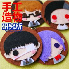 POPULAR-Anime-Tokyo-Ghoul-Cosplay-Costume-DIY-toy-Doll-keychain-Japan-4pcs