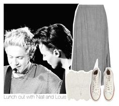 """""""Lunch out with Niall and Louis"""" by stylistdirectioner ❤ liked on Polyvore featuring Barbara Speer, Topshop, Converse and Ileana Makri"""