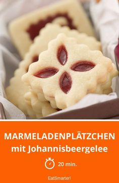 Marmeladenplätzchen - mit Johannisbeergelee - smarter - Zeit: 20 Min. | eatsmarter.de